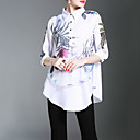 cheap Anklet-Women's Work Chinoiserie Shirt Print Shirt Collar