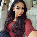 cheap Human Hair Wigs-Human Hair Glueless Lace Front Lace Front Wig Brazilian Hair Body Wave Wig 130% Density with Baby Hair Natural Hairline African American Wig 100% Hand Tied Women's Short Medium Length Long Human Hair