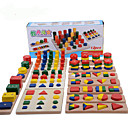 cheap Wooden Puzzles-Montessori Teaching Tool Pegged Puzzle Math Toy Education Cool Girls' Boys' Gift
