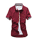 cheap Hifi player-Men's Cotton Shirt - Solid Colored