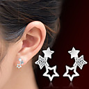 cheap Earrings-Women's Crystal Hollow Out Stud Earrings - Crystal Star Silver For Christmas Gifts / Wedding / Party