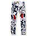 זול סניקרס לגברים-מכנסיים - פרחוני דפוס, צבעים מרובים רזה ישר ג'ינסים בגדי ריקוד גברים