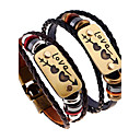 cheap Necklaces-Men's Women's Leather Bracelet - Leather Natural, Fashion Bracelet Black / Brown For Special Occasion Gift