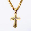 cheap Religious Jewelry-Men's Pendant Necklace - Cross Unique Design, Vintage Gold Necklace For Party, Special Occasion, Engagement