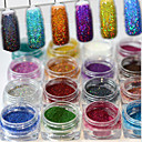 cheap Nail Glitter-17pcs/set Powder / Glitter Powder Elegant & Luxurious / Sparkle & Shine / Nail Glitter Nail Art Design