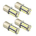 baratos Luzes de Seta para Veículos-4pçs 1156 / 1157 Carro Lâmpadas 2 W SMD 5050 200 lm LED luzes exteriores