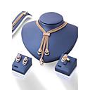 baratos Colares-Mulheres Conjunto de jóias - Fashion, Euramerican Incluir Dourado Para Casamento