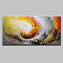 levne Abstraktní malby-Hang-malované olejomalba Ručně malované - Abstraktní Moderní evropský styl Obsahovat vnitřní rám