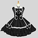 cheap Lolita Dresses-Classic Lolita Dress Rococo Women's Teen Girls' Dress Cosplay Black Short Sleeves Knee Length