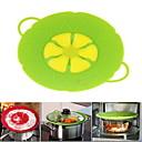 abordables Utensilios de cocina-Tapa de silicona tapón para derramar la cubierta de la maceta para olla de cocción 10.2 pulgadas