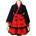 זול שמלות לוליטה-נסיכות לוליטה Wa שמלות קימונו בגדי ריקוד נשים בנות כותנה Japanese תחפושות Cosplay מידות גדולות מותאם אישית אדום נשף וינטאג' כובע שרוול ארוך קצר \ מיני