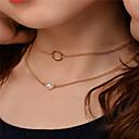 preiswerte Schmuckset-Damen Obsidian Einzelkette Schmuck-Set - Künstliche Perle Anhänger Stil Einschließen Halsketten / Anhängerketten / Ketten Gold / Silber Für Party / Besondere Anlässe / Alltag