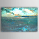 preiswerte Abstrakte Gemälde-Hang-Ölgemälde Handgemalte - Landschaft Abstrakt Segeltuch / Gestreckte Leinwand