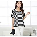 cheap Kigurumi Pajamas-Women's Cotton T-shirt - Striped