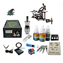 cheap Permanent Makeup Kits-Tattoo Machine Starter Kit - 1 pcs Tattoo Machines with 1 x 5 ml tattoo inks, Professional LCD power supply Case Not Included 1 damascus