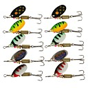 cheap Fishing Lures & Flies-10 pcs Jigs Swimbaits Accessory Buzzbait & Spinnerbait Lure Packs Metal Bait Brass Steel Sinking Sea Fishing Fly Fishing Bait Casting / Ice Fishing / Spinning / Jigging Fishing / Freshwater Fishing