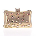 cheap Clutches & Evening Bags-Women's Bags Polyester / PU Evening Bag Rhinestone / Crystal Red / Purple / Fuchsia