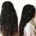 preiswerte Haarzöpfe-Geflochtenes Haar Locken Dread Locks / Dreadlocks / Faux Locs 100% kanekalon haare 1pack, 24 Wurzeln / Packung, 5pack für einen Kopf Haar Borten Weich / Dreadlock Erweiterungen / Falsche Dreadlocks