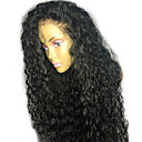 cheap Human Hair Wigs-Human Hair Lace Front Wig Brazilian Hair Curly Wig With Baby Hair 130% Natural Hairline / Glueless Women's Short / Medium Length / Long Human Hair Lace Wig