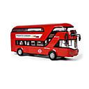 baratos Carros de brinquedo-Brinquedos Ônibus Brinquedos Ônibus Ônibus de dois andares Liga de Metal Peças Unisexo Dom