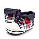 cheap Baby Shoes-Boys' Shoes Canvas Spring First Walkers Loafers & Slip-Ons Plaid / Gore for Kid's Red / Black / Party & Evening