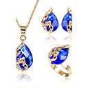 cheap Jewelry Sets-Women's Jewelry Set - Animal Fashion, Euramerican Include Red / Green / Blue For Party