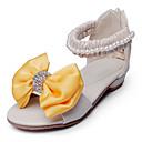halpa Tyttöjen kengät-Tyttöjen Kengät Tekonahka Kesä Sandaalit Tekojalokivi / Ruseteilla varten Keltainen / Pinkki / Juhlat