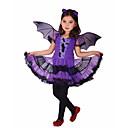 preiswerte Film & Fernsehen Thema Kostüme-Hexe Cosplay Kostüme / Haloween Figuren / Party Kostüme Film Cosplay Purpur Kleid Halloween / Karneval / Kindertag Polyester