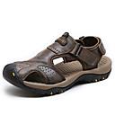 cheap Men's Sandals-Men's Nappa Leather Summer Comfort Sandals Water Shoes Brown / Dark Brown / Khaki