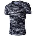 preiswerte Küchenarmaturen-Herrn Gestreift Galaxis - Aktiv Sport Baumwolle T-shirt, Hemdkragen Druck