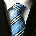 رخيصةأون الراين ستون وزينة الأظافر-ربطة العنق مخطط رجالي ملابس برقبة / خطوط