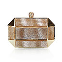 cheap Clutches & Evening Bags-Women's Bags Polyester Evening Bag Rhinestone / Crystal Gold / Black / Silver