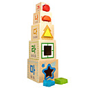 povoljno Pločasti blokovi-Kocke za slaganje Igre slaganja Poučna igračka Kvadrat Cool Dječji Igračke za kućne ljubimce Poklon