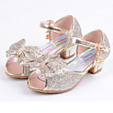 cheap Girls' Shoes-Girls' Shoes Leatherette Summer Comfort / Flower Girl Shoes Flats Sequin for Silver / Blue / Pink / Peep Toe
