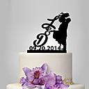 olcso Torta díszek-Tortadísz Klasszikus téma / Emberek / Romantika Klasszikus pár Műanyag Esküvő / Évforduló val vel 1 pcs Poli táska