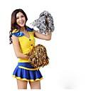 baratos Fantasias de Líder de Torcida-Fantasias para Cheerleader Roupa Mulheres Espetáculo Poliéster Adorno Sem Manga Alto Saias / Blusa