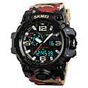 ieftine Proiectoare-SKMEI Bărbați Ceas Sport Ceas Militar Ceas de Mână Japoneză Quartz Piele PU Matlasată 50 m Rezistent la Apă Alarmă Calendar Analog - Digital Modă - camuflare Brown Doi ani Durată de Viaţă Baterie