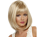 cheap Synthetic Capless Wigs-Synthetic Wig Straight Blonde Synthetic Hair Blonde Wig Women's Medium Length Capless