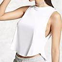 preiswerte Moderinge-Damen Solide Tank Tops, Rundhalsausschnitt Moderner Stil Klassisch Stilvoll Baumwolle Kunstseide