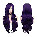 cheap Synthetic Capless Wigs-Synthetic Wig Curly Synthetic Hair Purple Wig Women's Long Capless