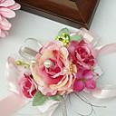 olcso Esküvői virágok-Esküvői virágok Virágcsokrok csuklóra Esküvő Sifon Selyem Pamut Szatén Kb. 5 cm