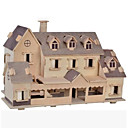 cheap Models & Model Kits-3D Puzzle Jigsaw Puzzle Wooden Puzzle Wood Model Model Building Kit Famous buildings House Other DIY Wood Natural Wood Classic Kid's