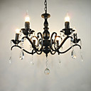 olcso Csillárok-Ac110-240 nappali csillár egyszerű kristály vas gyertya lámpák nappali dekoráció lámpák világítás