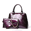 cheap Bag Sets-Women's Bags PU(Polyurethane) Bag Set 3 Pcs Purse Set Gold / Black / Purple / Bag Sets
