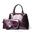 رخيصةأون مجموعات حقائب-للمرأة أكياس PU مجموعات حقيبة 3 قطع محفظة مجموعة ذهبي / أسود / أرجواني
