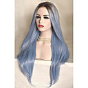 cheap Earrings-Synthetic Lace Front Wig Straight Synthetic Hair Ombre Hair Blue Wig Women's Medium Length Lace Front Sky Blue