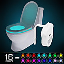 cheap Night Lights-HKV® 1PCS  IP65 16 Colors Motion Activated Toilet Night light Fit Any Toilet-Water-resistant Bathroom Night Light Easy Clean -For Midnight Convenie