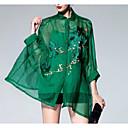 billige Hodeplagg til fest-Silke Skjorte - Blomstret Dame