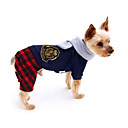 cheap Dog Clothes-Dog Jumpsuit Dog Clothes British Cotton Costume For Pets Men's / Women's Casual / Daily
