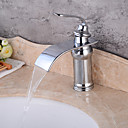 cheap Sprinkle® Faucets-Lightinthrbox  Sprinkle® Sink Faucets - Contemporary Chrome Waterfall One Hole